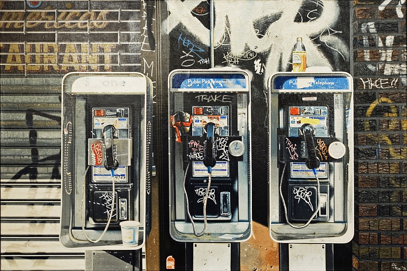 Don Jacot, Pay Phones 1995, Oil on Linen