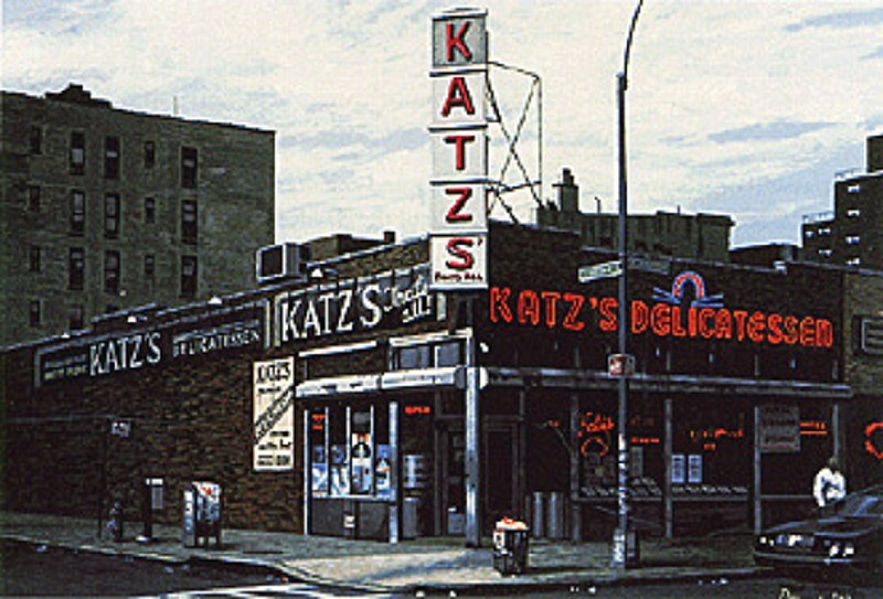 Don Jacot, Katz's Delicatessen 1993, Gouache on Board
