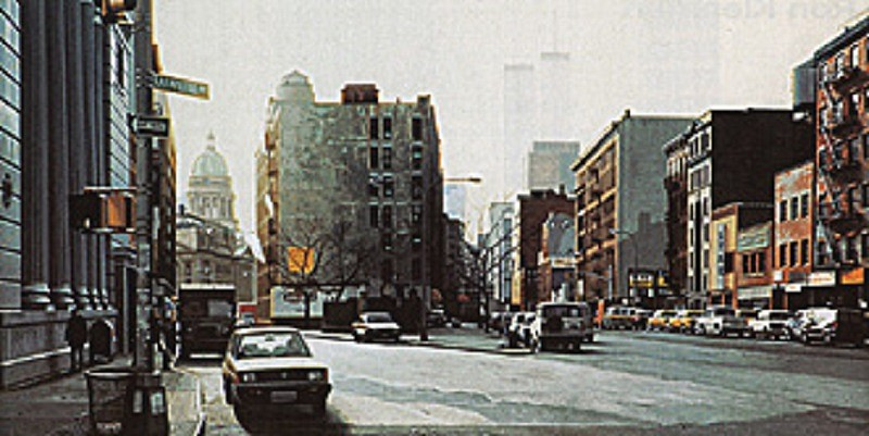 Don Jacot, Street Corner, Soho N.Y. 91 1993, Gouache on Board