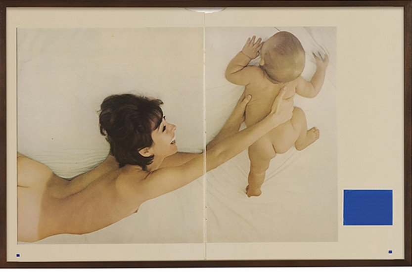 Elad Lassry, Joanne and Trace, No Distractions, B2 2007, Silkscreen Ink on Printed Paper in Artist's Frame