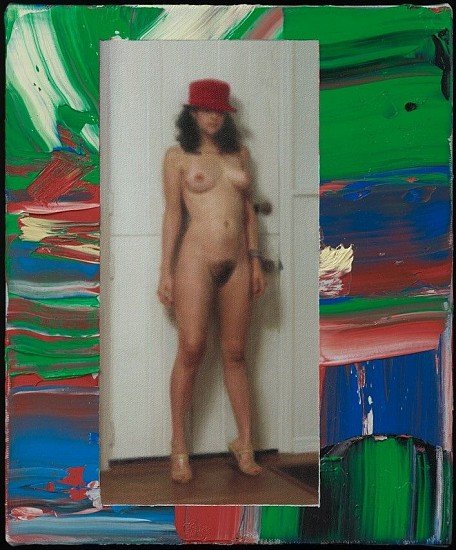 Richard Patterson, Christina with Dutch Door 2015, Oil on Canvas