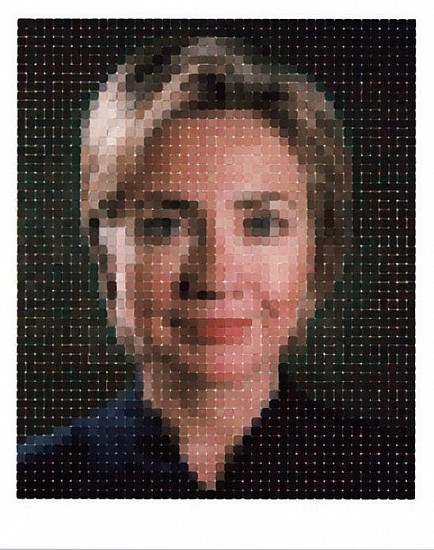 Chuck Close, Hillary 2016, Archival Watercolor Print on Hahnemuhle Rag Paper